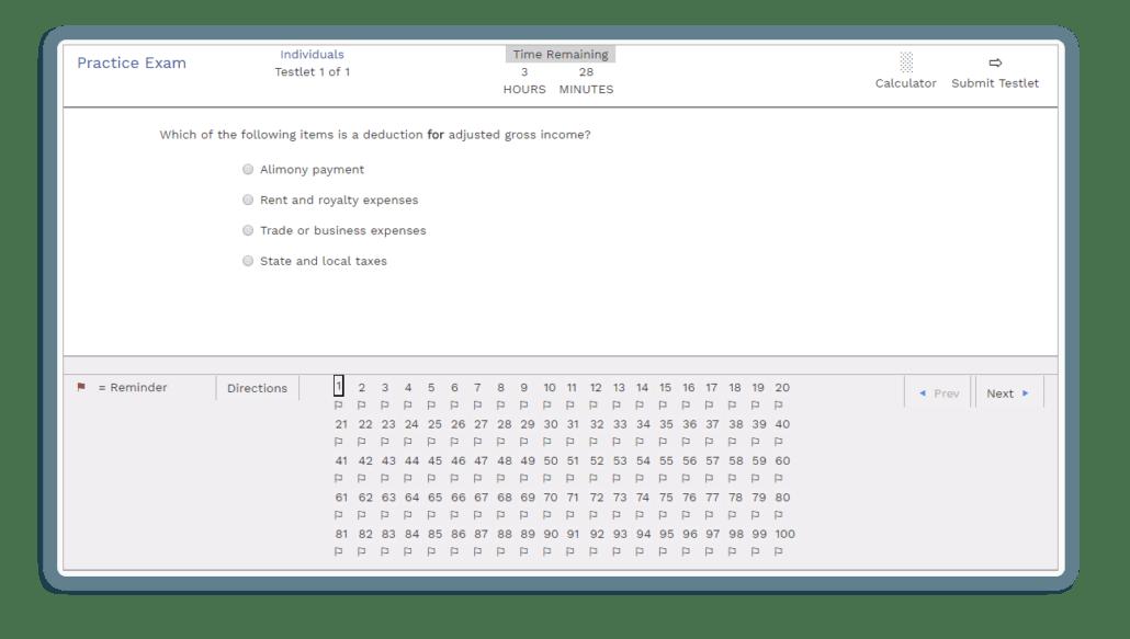 Surgent EA Exam Dashboard